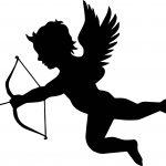 Black Color Cupido Coloring Page