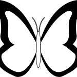 Black White Butterfly Coloring Page