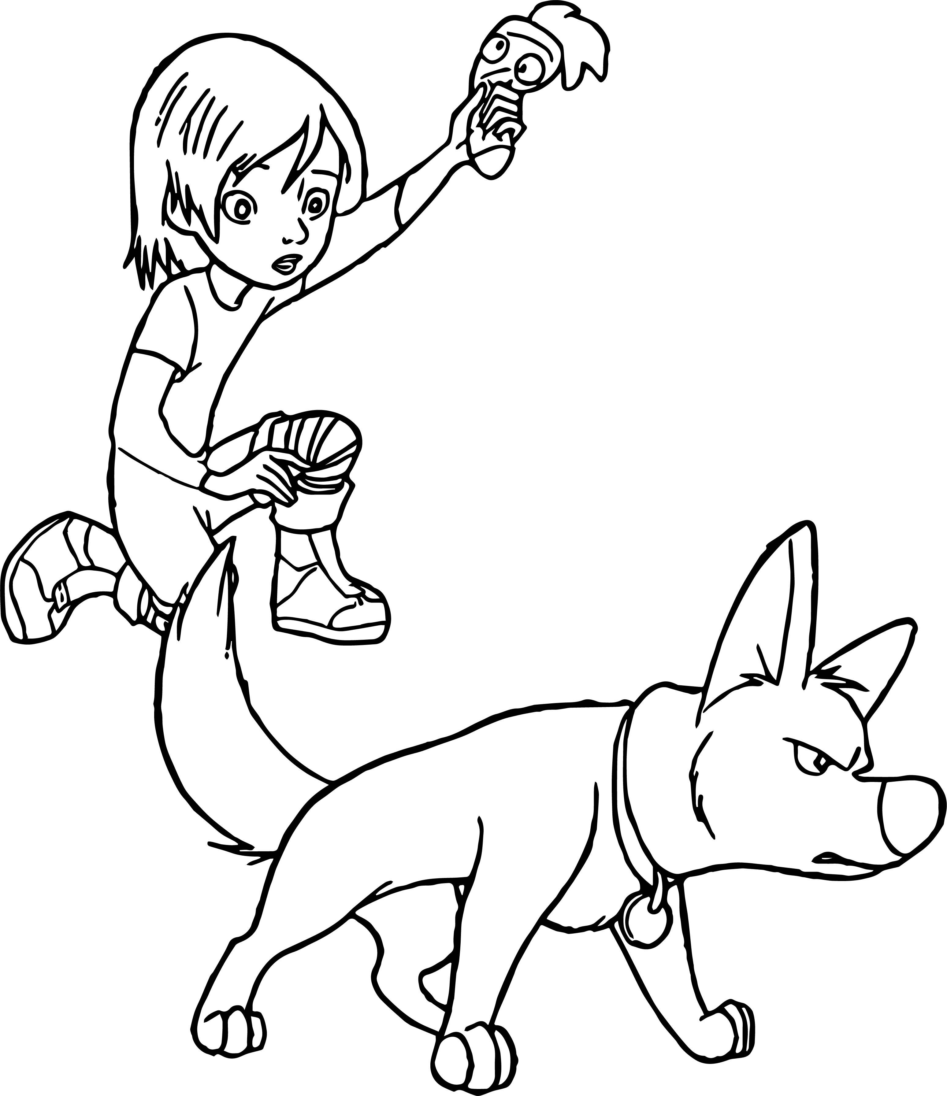 Bolt Dog Danger Coloring Pages
