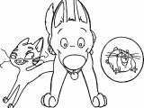 Bolt Dog Friends Run Coloring Pages