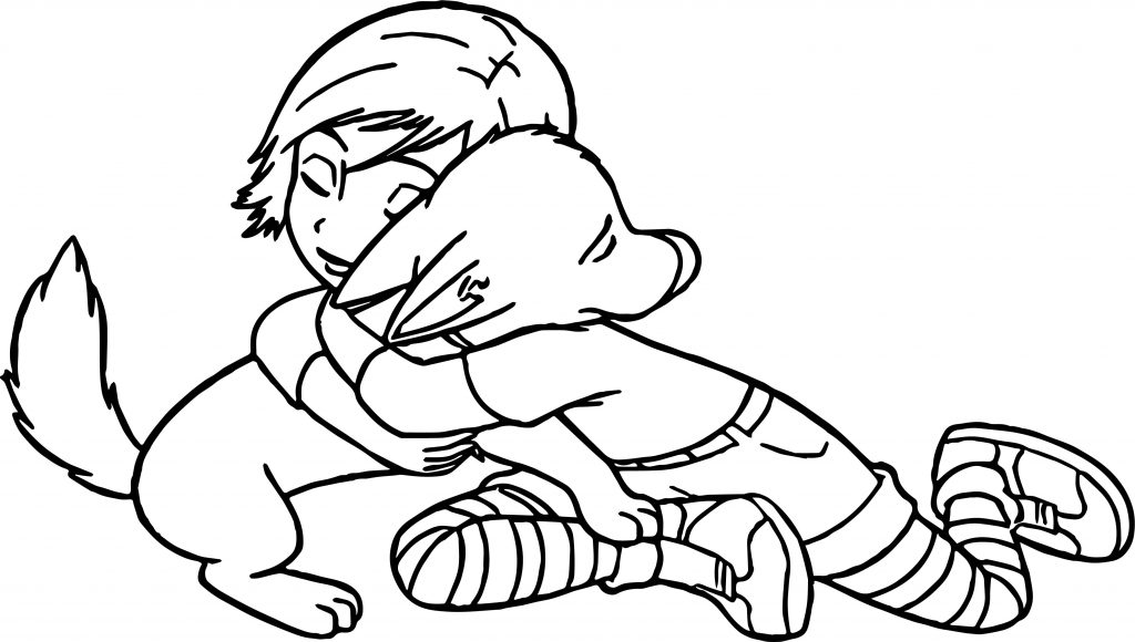 Bolt Dog Hug Coloring Pages Wecoloringpage