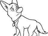 Bolt Dog Sad Coloring Pages