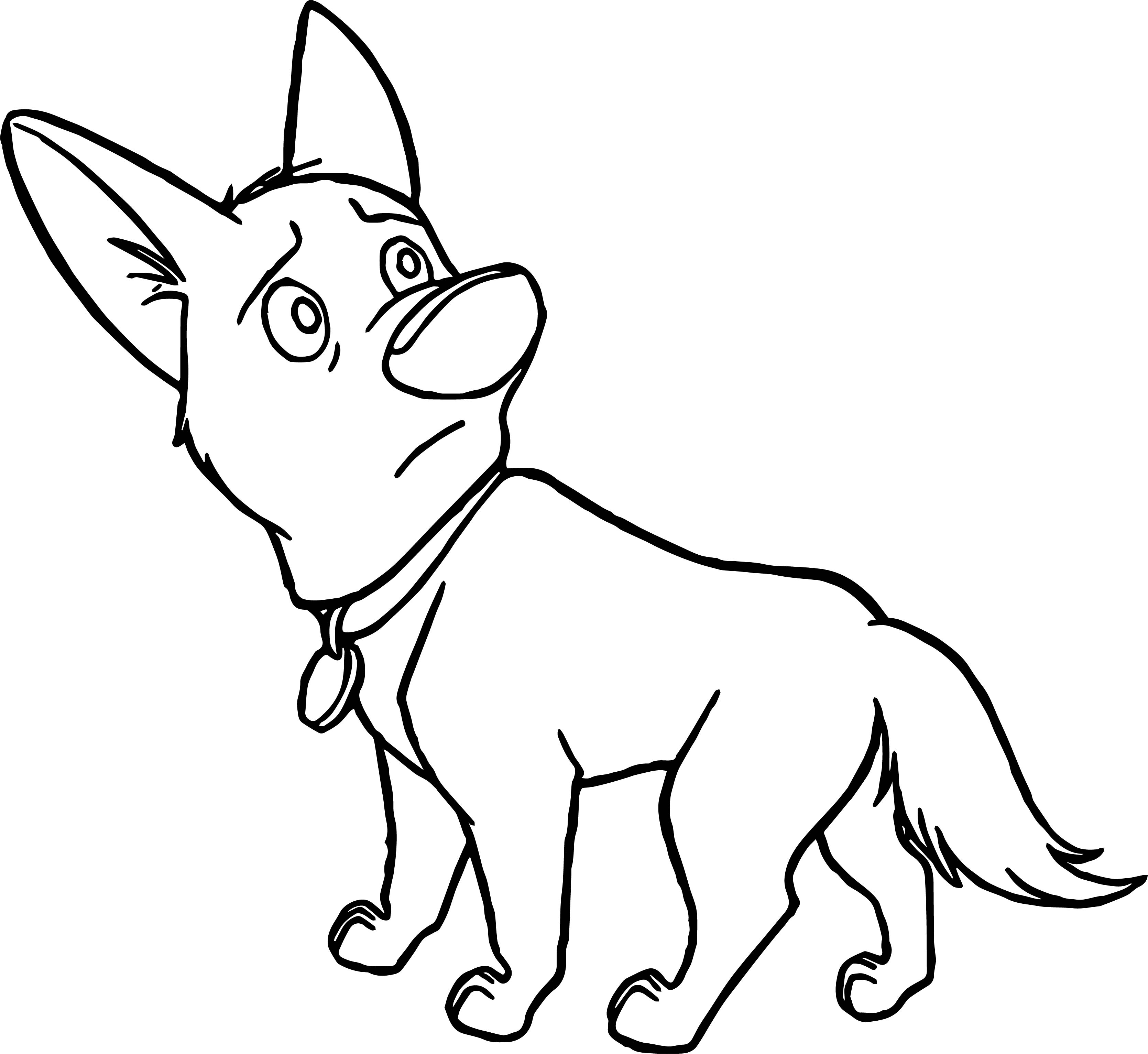 Bolt Dog Sad Coloring Pages Wecoloringpage Com