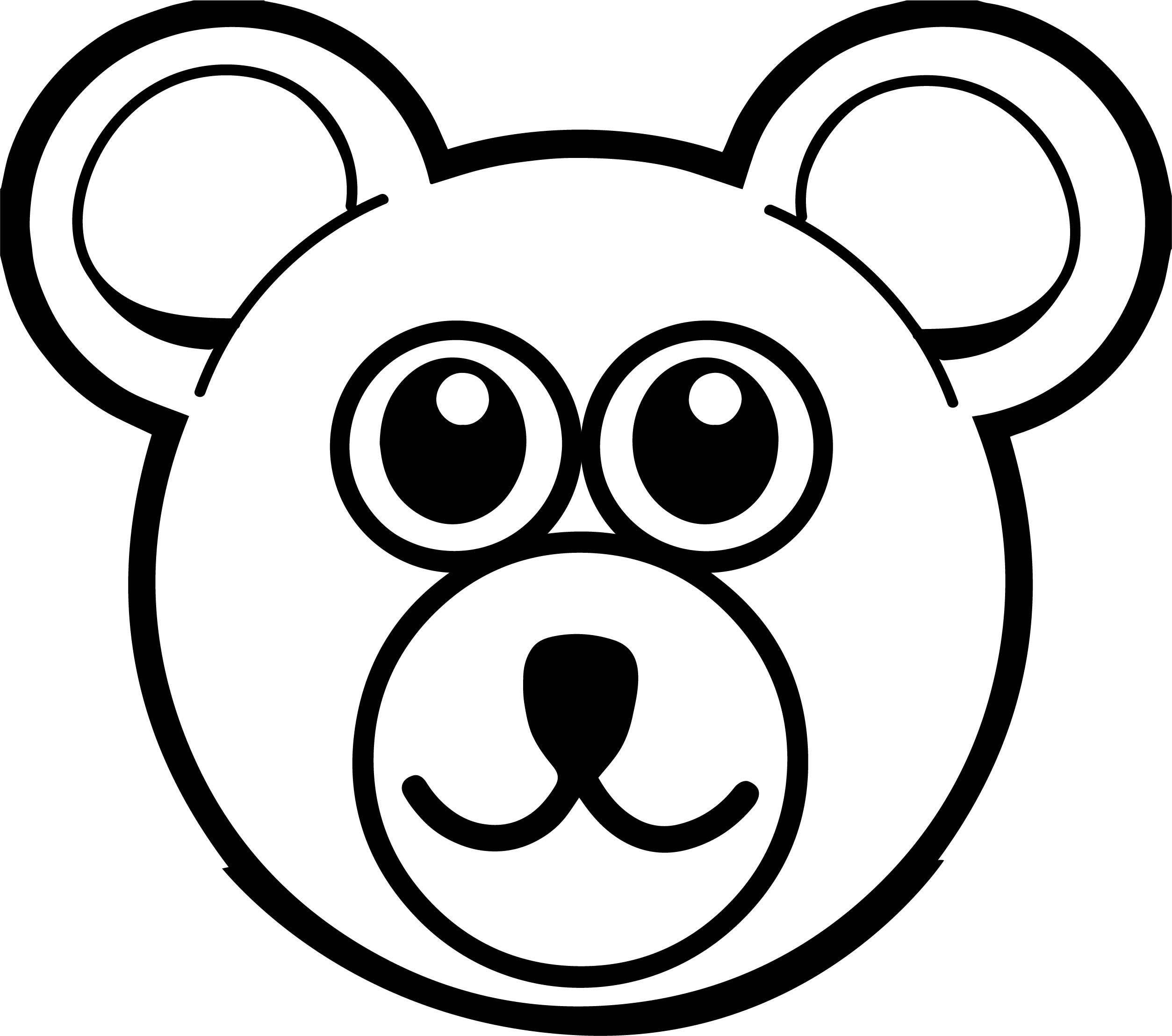 Boy Bear Front View Big Beautiful Coloring Page