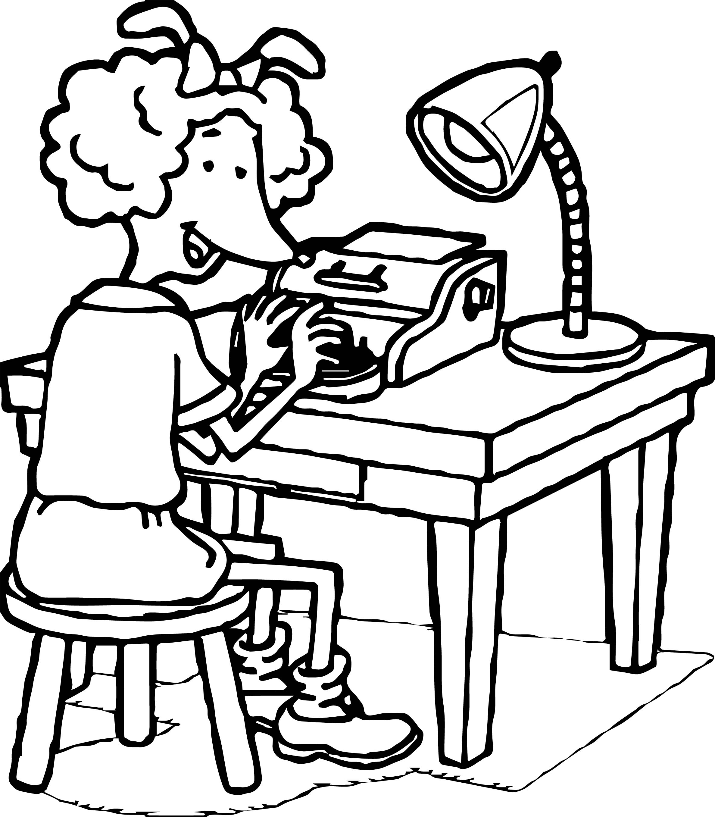Braille Prunella Coloring Page