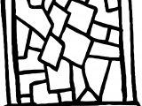 Broken Stained Glass Coloring Page