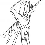 Buckethead Kill Switch Outline Coloring Page