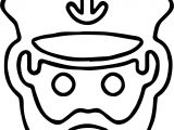 Captain Face Smiley Coloring Page