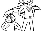 Captain Girl And Captain Monkey Coloring Page