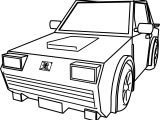 Car For Cartoon Cars Coloring Page