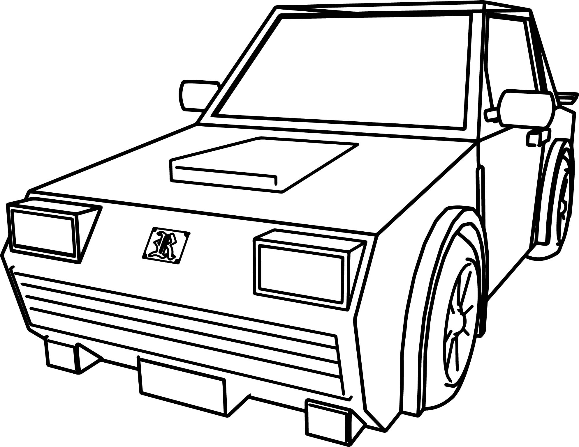 Coloring Pages Cars Cartoon : Car for cartoon cars coloring page wecoloringpage