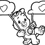 Care Bears Swing Cloud Adventures in Care A Lot Coloring Page