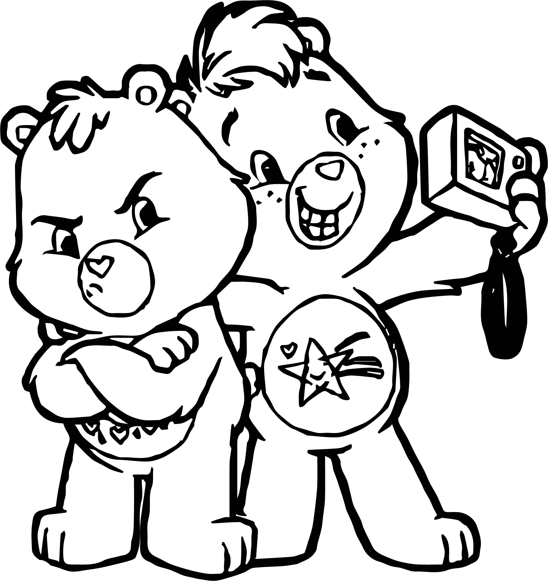 Care Bears Take Photo Adventures in Care A Lot Coloring Page