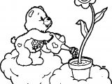 Care Bears To Water The Flowers Coloring Page