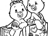 Care Bears Travel Adventures in Care A Lot Coloring Page