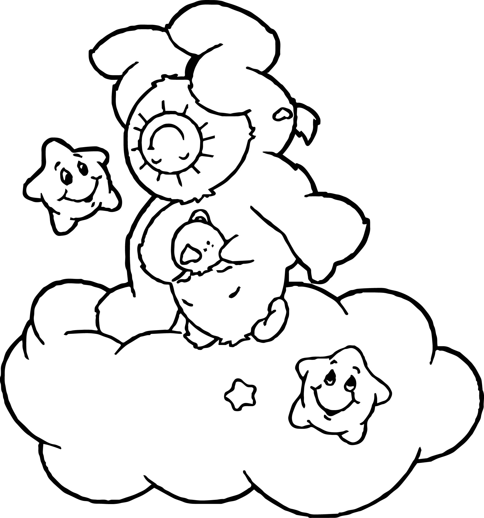 Care Bears Turn Coloring Page