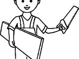 Carpenter Boy Coloring Pages