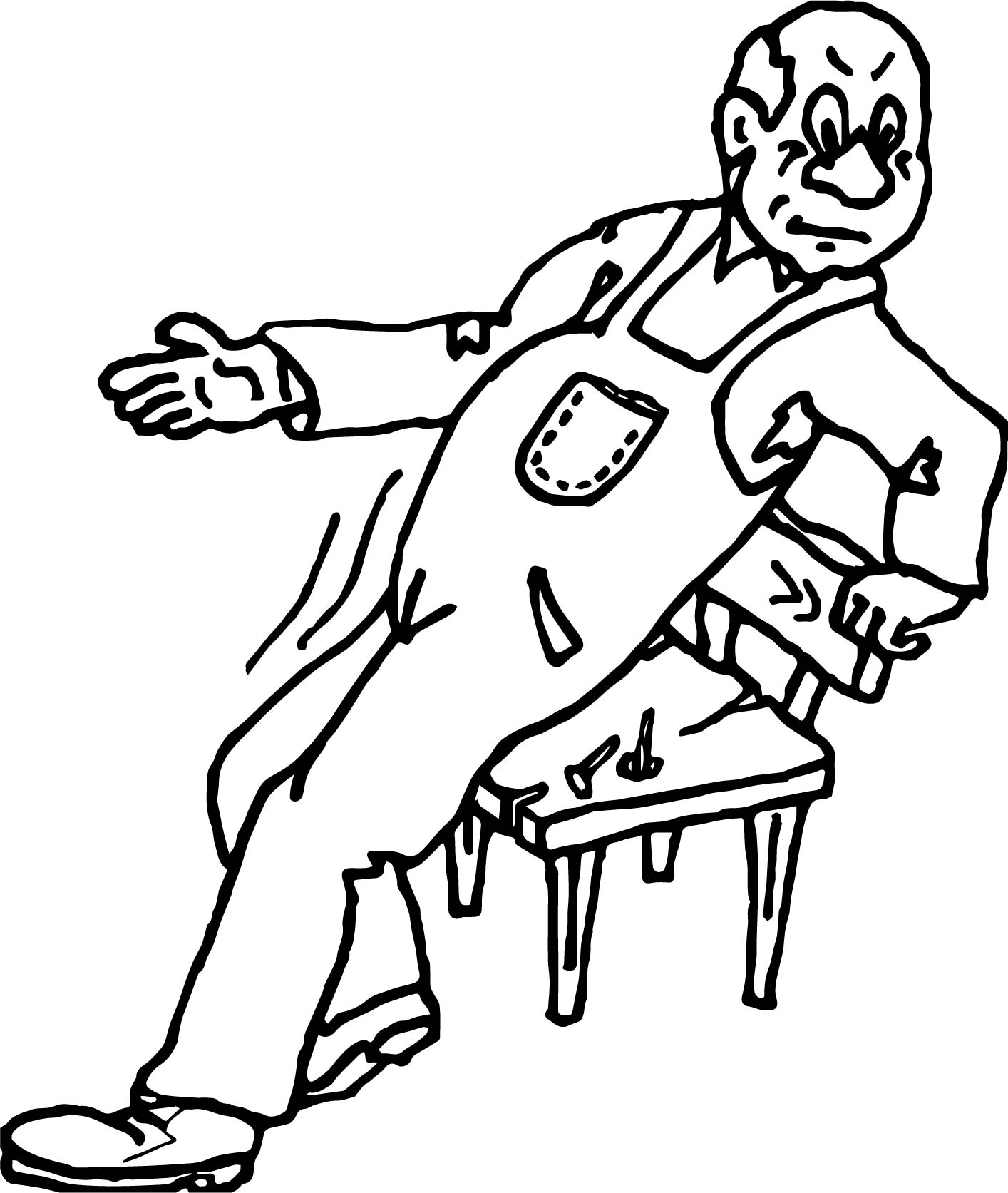 Carpenter Joke Coloring Page
