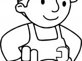 Carpenter Worker Coloring Page