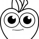 Cartoon Apple Boy Coloring Pages