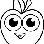 Cartoon Apple Boy Speak Coloring Pages