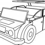 Cartoon Car Jeep Coloring Page