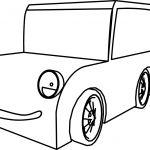 Cartoon Car Smile Coloring Page