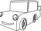 Cartoon Car Smile Coloring Page