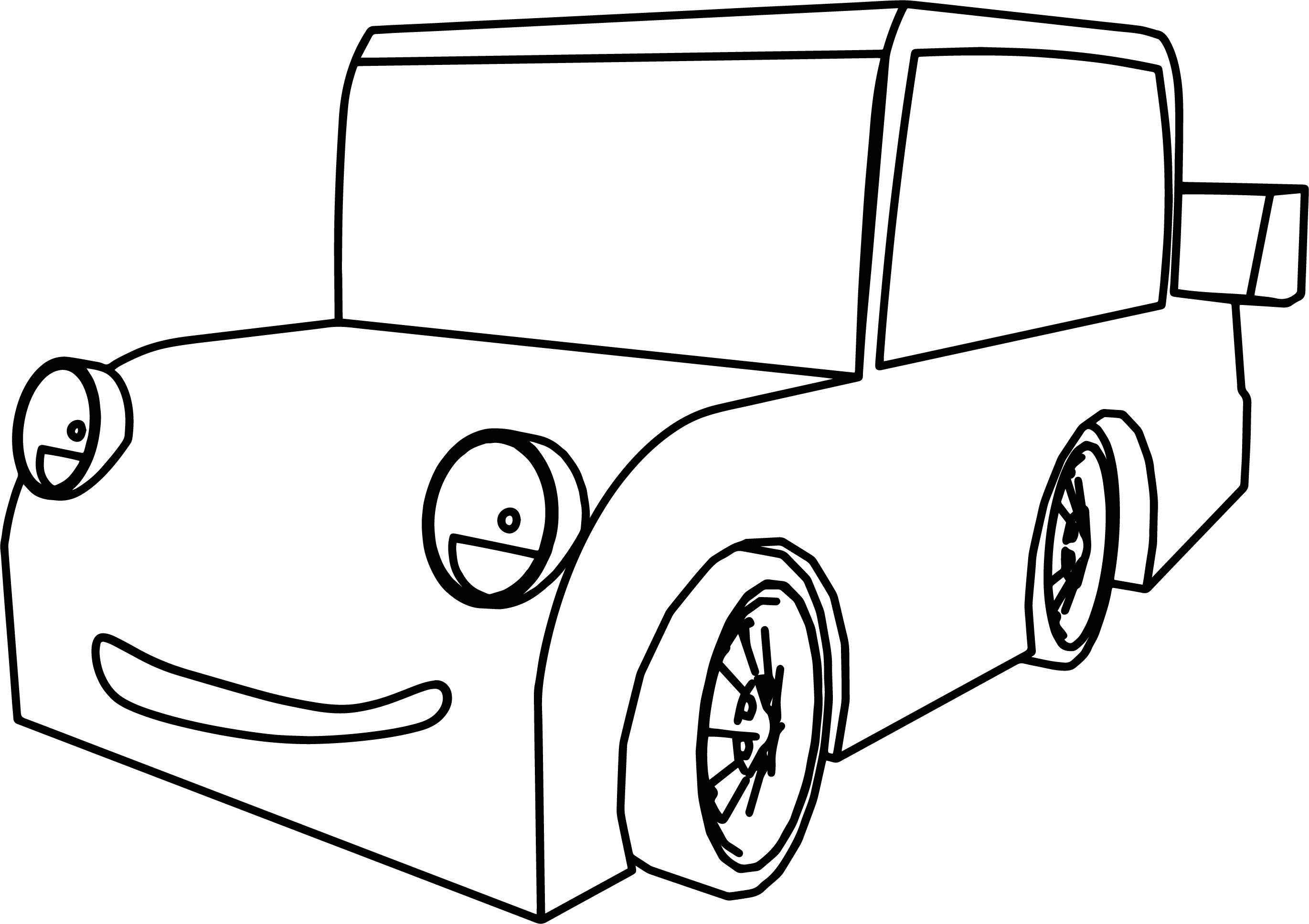 Coloring Pages Cars Cartoon : Cartoon racing car  coloring pages of cars