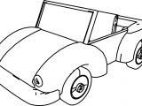 Cartoon Car Volkswagen Coloring Page