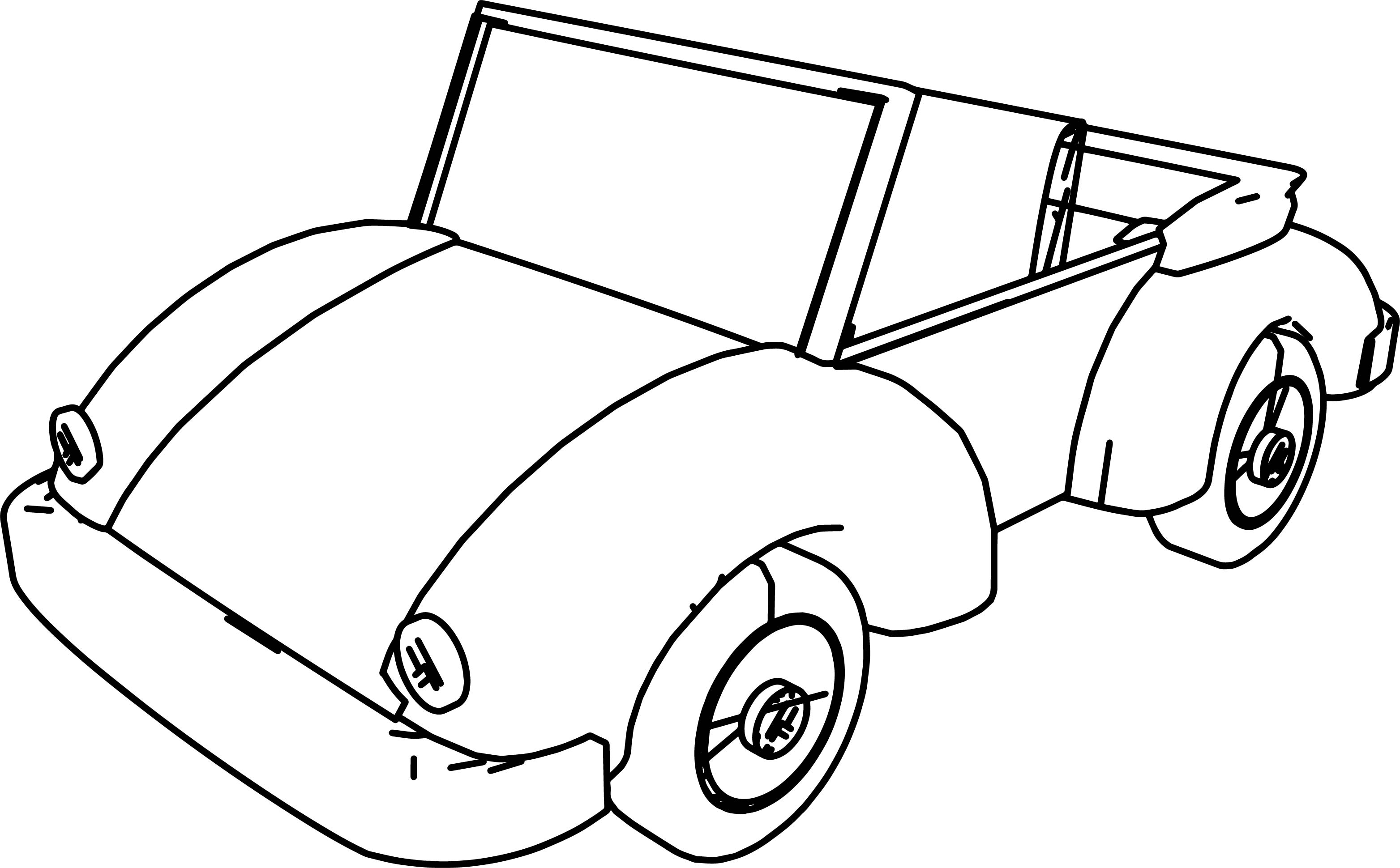 Cartoon car volkswagen coloring page for Cars cartoon coloring pages