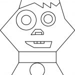 Cartoon Cat Face Coloring Page