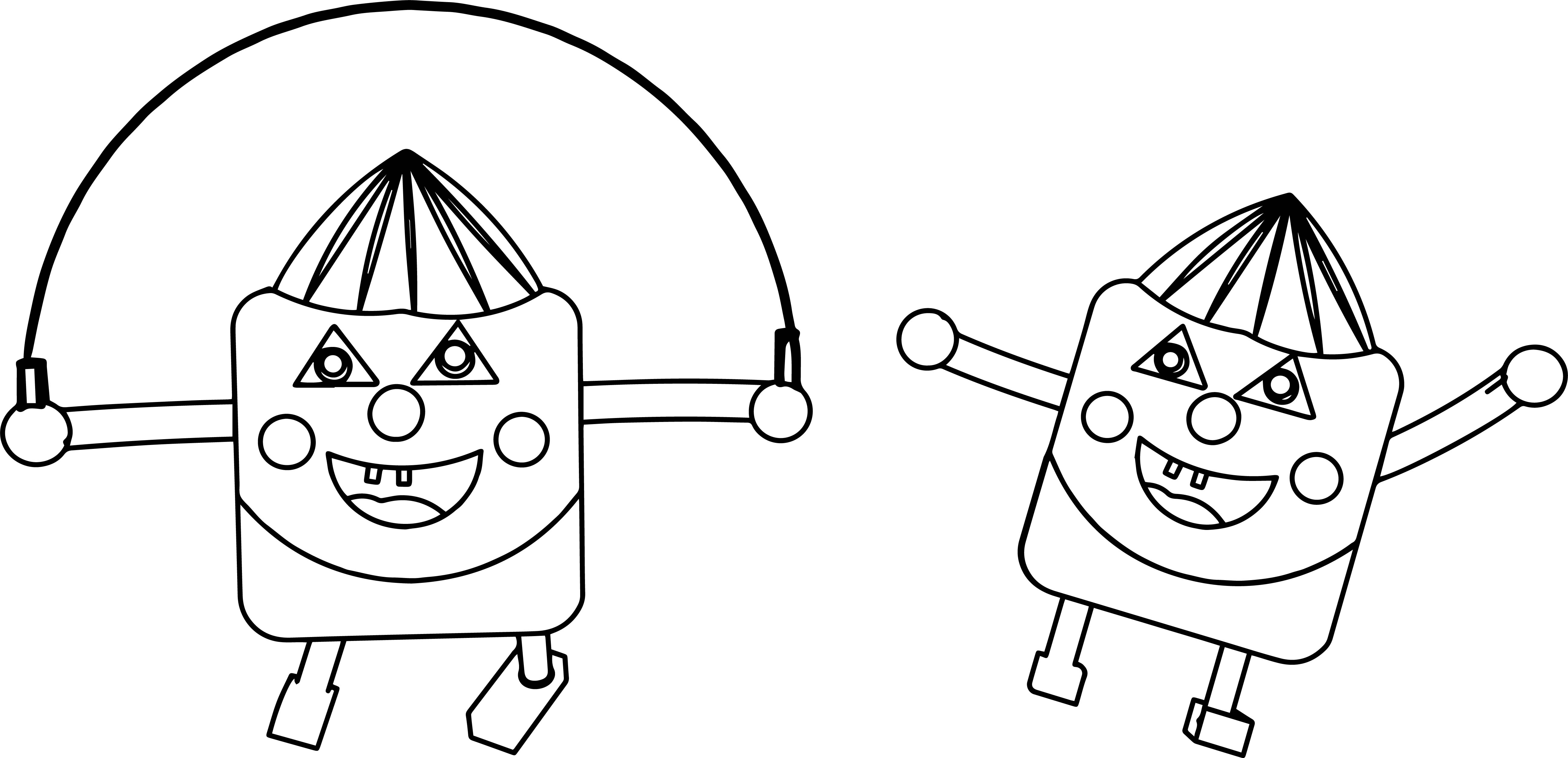 Cartoon Characters Coloring Page