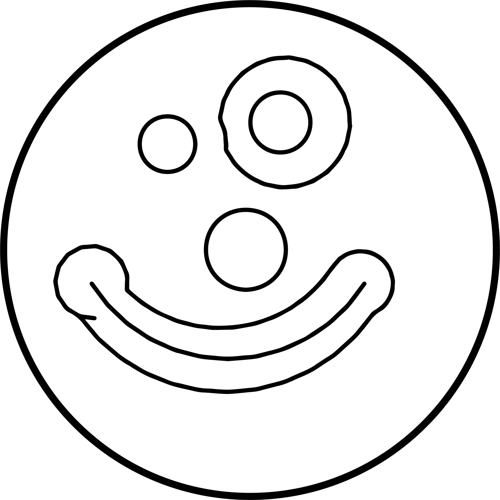Cartoon Comic Clown Face Coloring Page