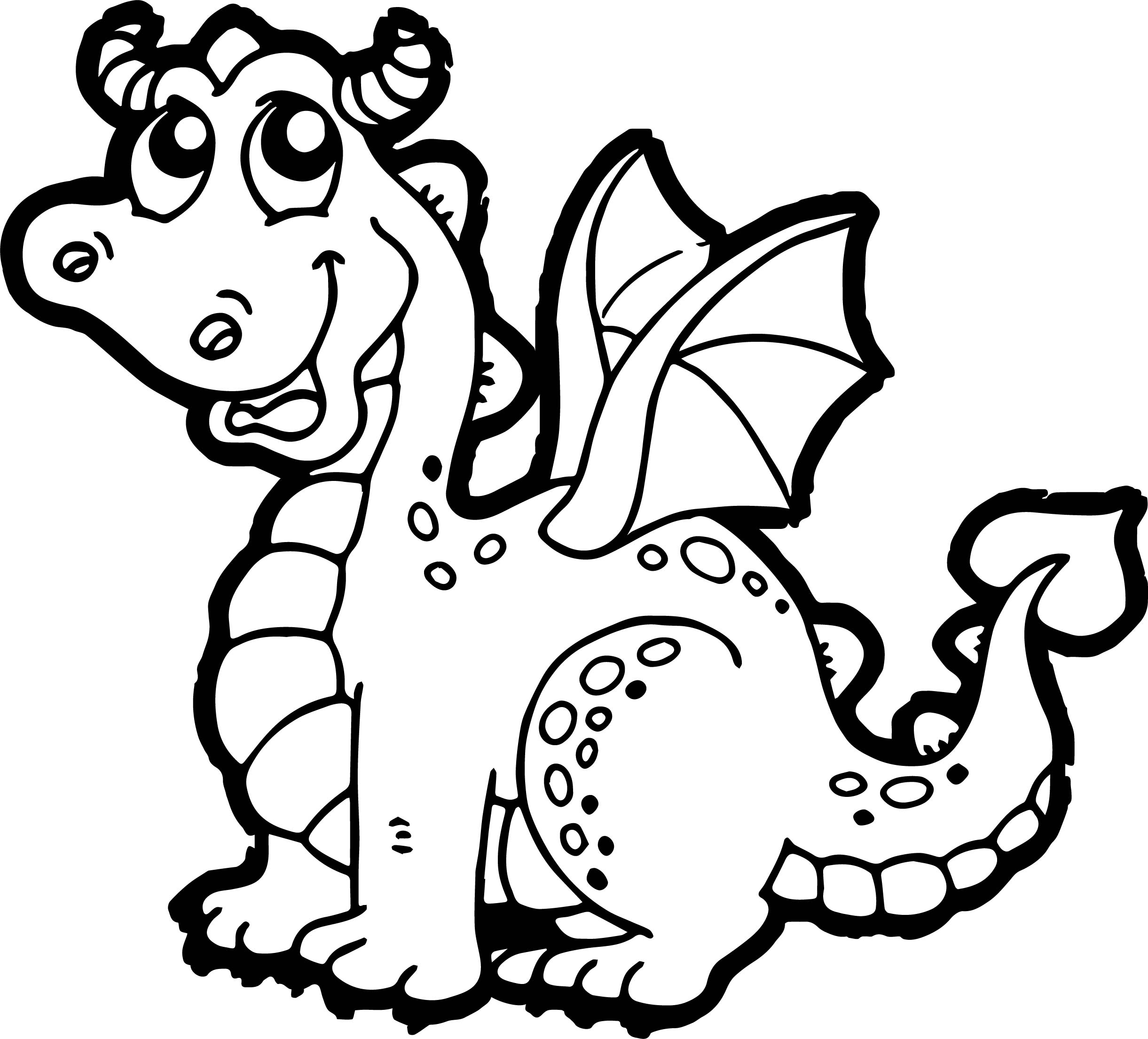 Cartoon dragon coloring pages for Coloring page dragon