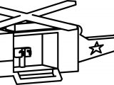 Cartoon Helicopter Coloring Page