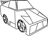 Cartoon Lambo Tune Car Coloring Page