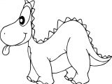 Cartoon Of Dinosaurs Tongue Coloring Page