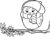 Cartoon Owl Autumn Coloring Page