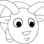 Cartoon Ram Animal Coloring Page