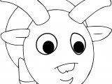 Cartoon Ram Animal Coloring Page