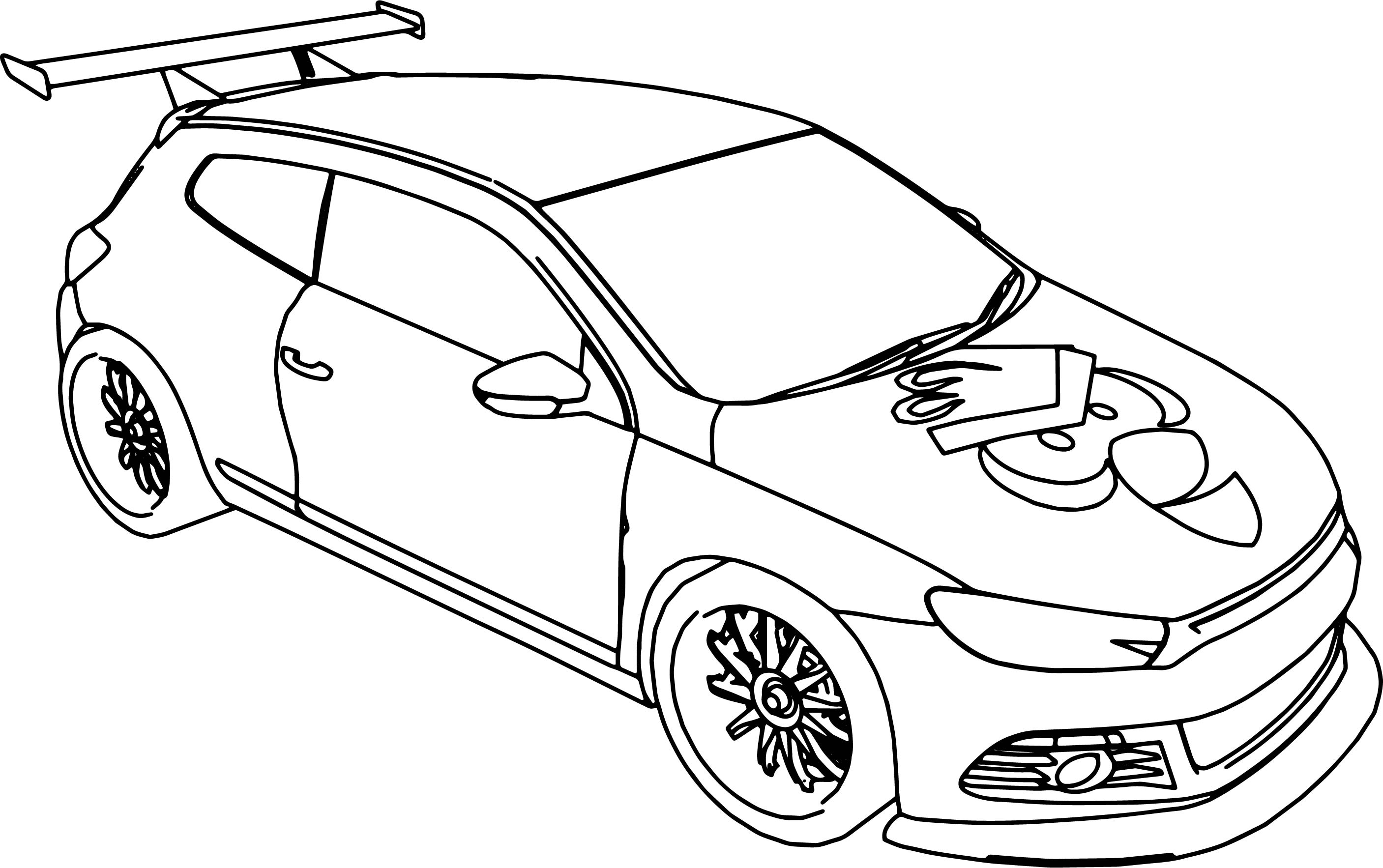 cartoon vw scirocco car angry bird coloring page