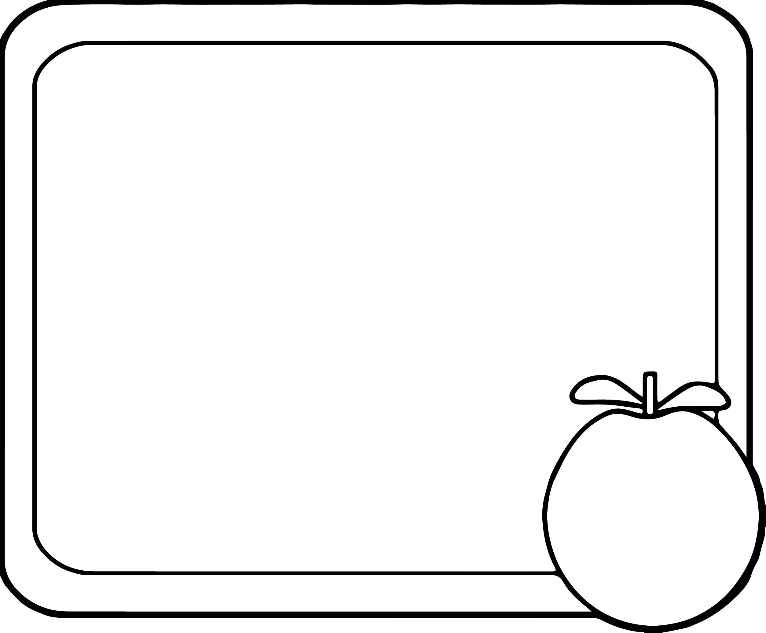 Chalkboard Apple Coloring Page