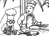 Chef Arthur Coloring Page