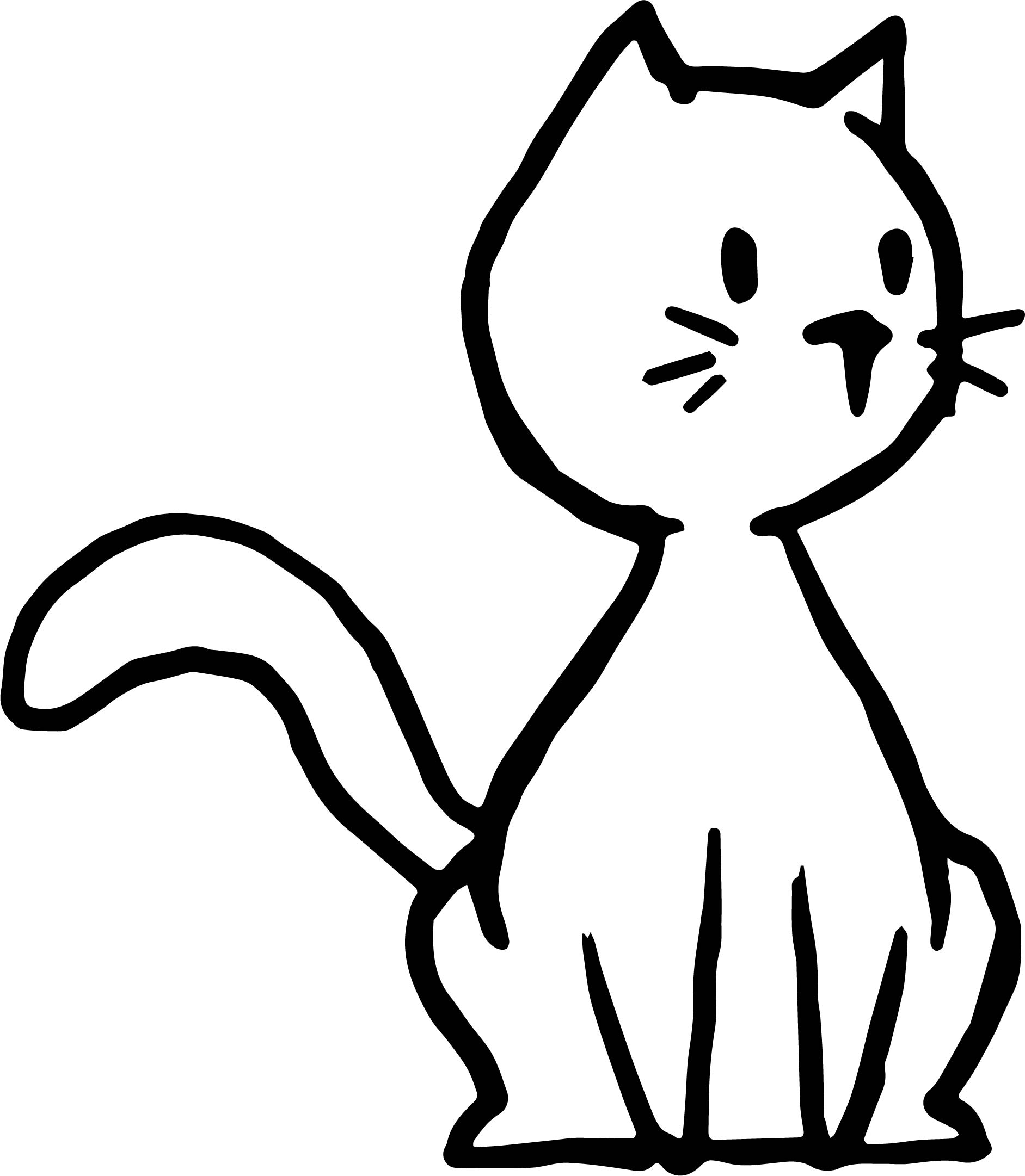 Chibi Cat Coloring Page
