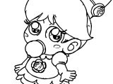 Chibi Daisy Coloring Page