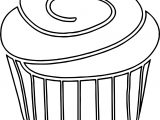 Chocolate Cupcake Coloring Page
