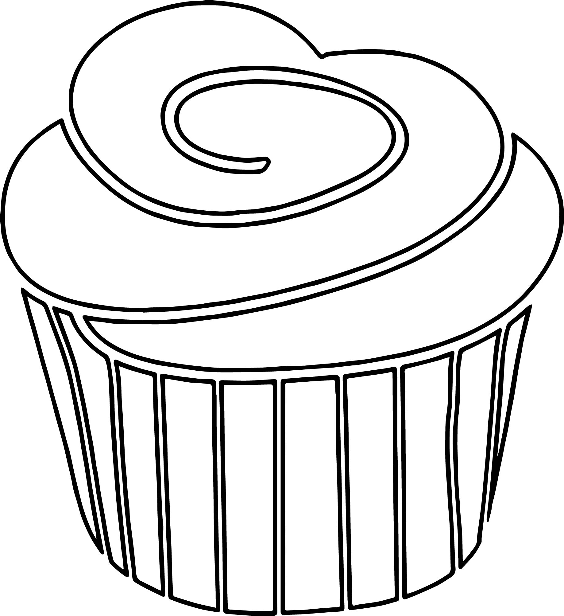 Chocolate cupcake coloring page for Cupcake color pages