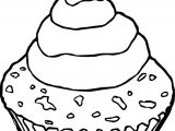 Chocolate Cupcake Pictures Cherry Coloring Page