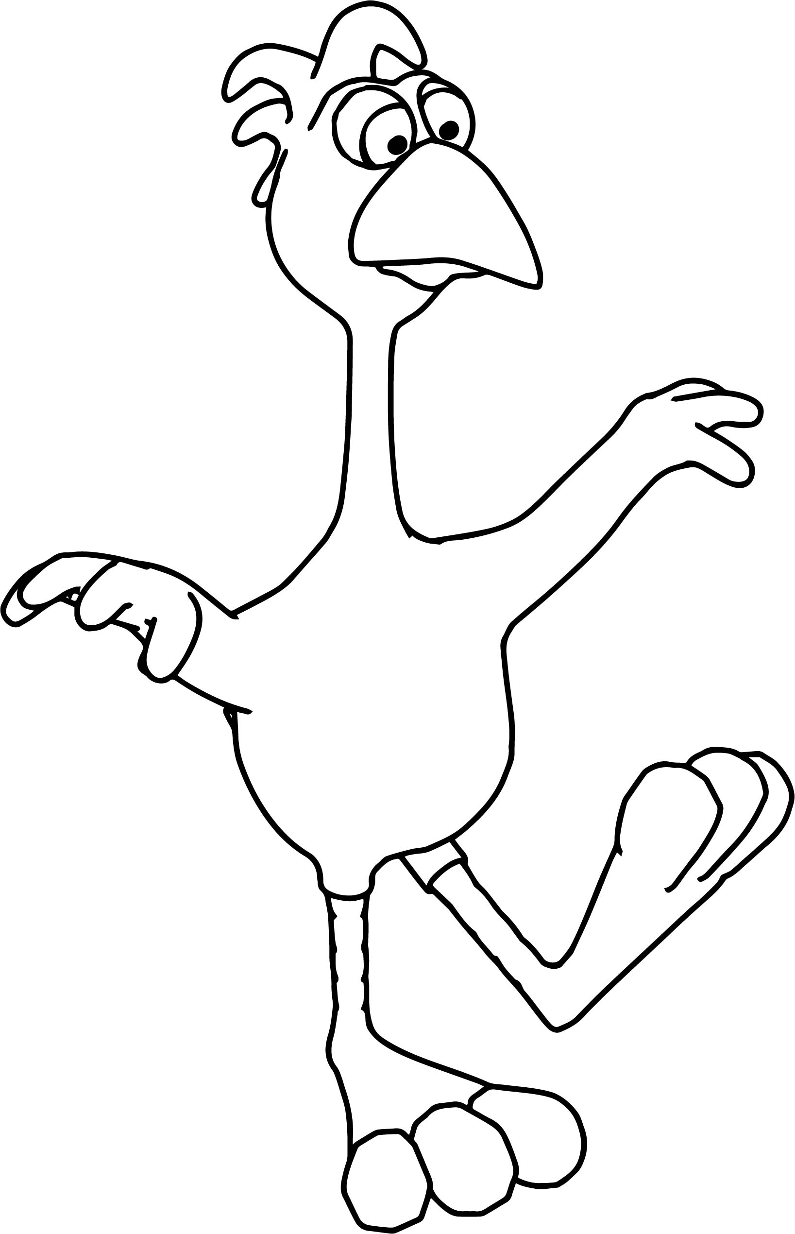 Cock Ghost Walking Coloring Page